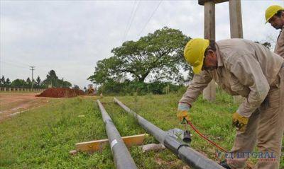 Libres: en abril comenzará la conexión domiciliaria de gas