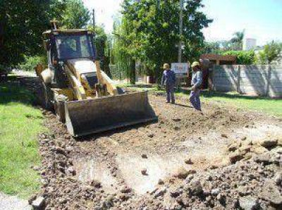 Obras para recuperar más calles del distrito.