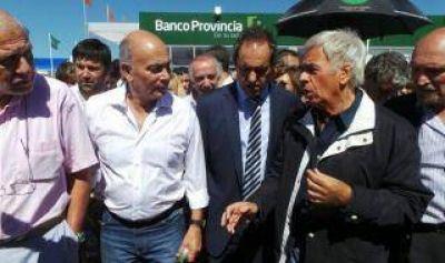 """Expoagro 2014: Scioli, De La Sota y Bonfatti con """"Momo"""" Venegas"""