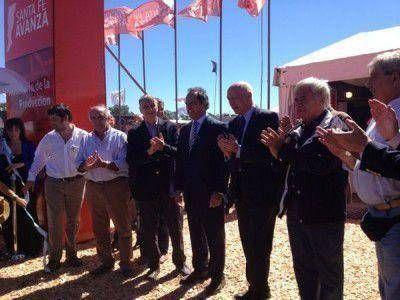 En Expoagro, Scioli habló del paro docente