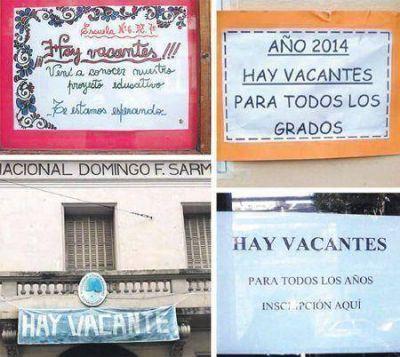 Insólito: hay vacantes en colegios porteños, pero no se ocupan