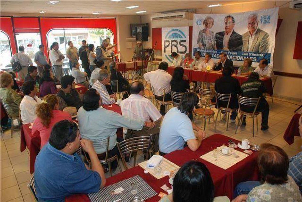 """Oscar Folloni: """"El PRS está dando muestras de unidad en toda la provincia""""."""