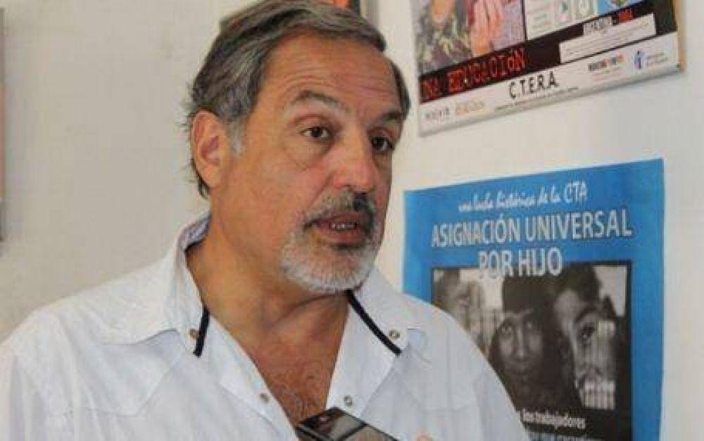"""Raúl Calamante, de Suteba: """"La propuesta es insuficiente y no impacta en el conjunto de reclamos"""""""