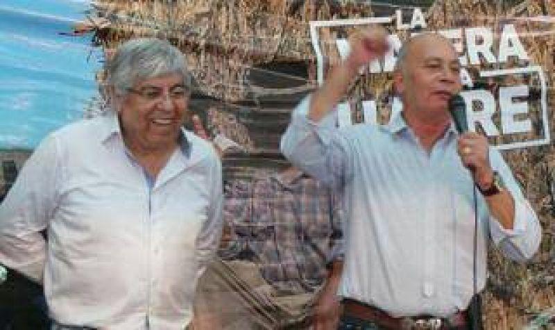 """Moyano y """"Momo"""" Venegas apuntaron contra el Gobierno nacional en Expoagro"""
