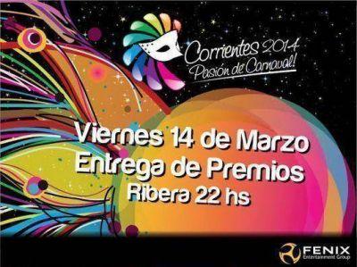 Esta noche, entrega de premios del Carnaval 2014