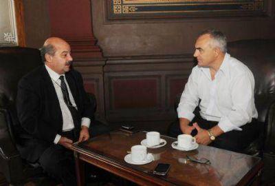 Celi se reunió con el presidente de la UNLP