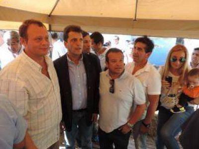 Concejales del FR junto a Massa en Expoagro