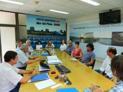 Obras Sanitarias coordina acciones conjuntas con Sociedad de Fomento de Estación Chapadmalal