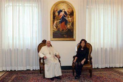 La Presidenta habló de sintonía y coincidencias con Francisco