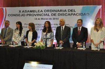 La gobernadora presidió la apertura de la X Asamblea del Consejo de Discapacidad