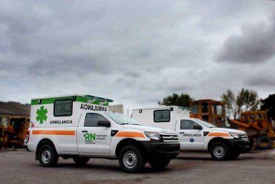Casi 7 millones de pesos destinados a ambulancias y camionetas para fortalecer el sistema sanitario rionegrino