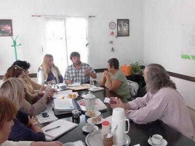Peralta recibi� a integrantes de la ONG �S.O.S. Agua� de Caleta Olivia