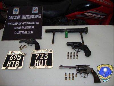 Siete detenidos y armas secuestradas en Guaymallén