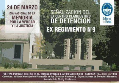 Fabián Ríos inaugurará un monumento en el Día Nacional de la Memoria, por la Verdad y la Justicia
