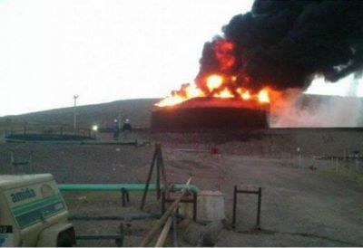 Confirman la destrucci�n total de la planta de YPF en Mendoza