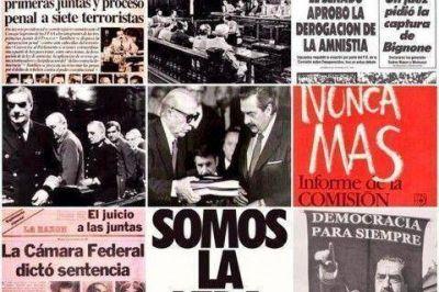 """La UCR le dice """"Nunca Más al terrorismo de estado y Nunca Más al autoritarismo"""""""