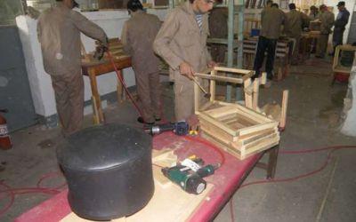 Penados de la UP Nº 1 fabrican muebles con métodos de producción