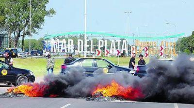 Mar del Plata, un caos por los piquetes y la falta de transporte