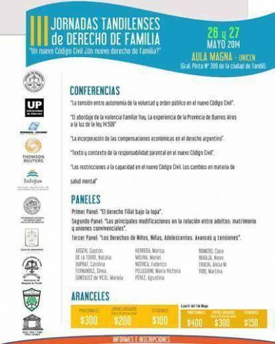 III Jornadas tandilenses de Derecho de Familia