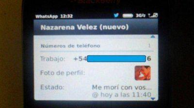"""El doloroso mensaje de Nazarena Vélez en WhatsApp: """"Me morí con vos"""""""