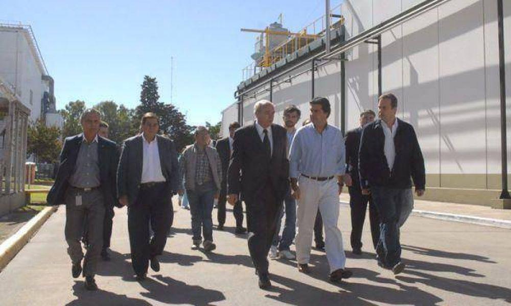 Anghileri y Capitanich recorrieron la planta de La Serenísima