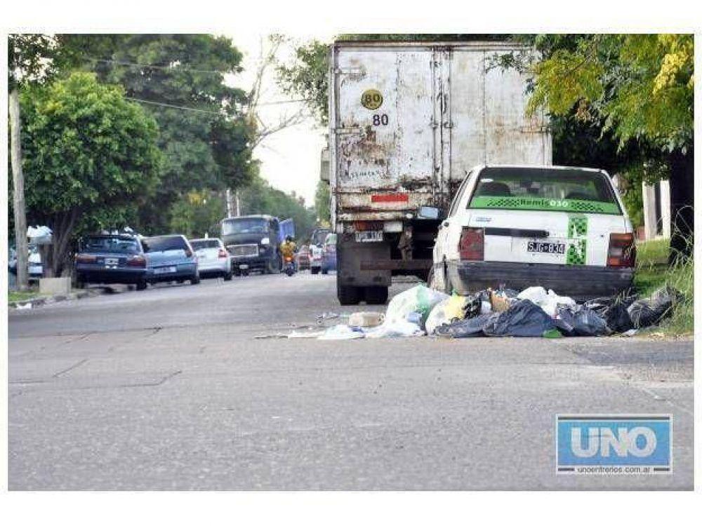 Quinto día: la recolección de basura continúa sin realizarse