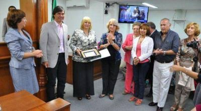 La Legislatura hizo un reconocimiento a Mirian Curletti