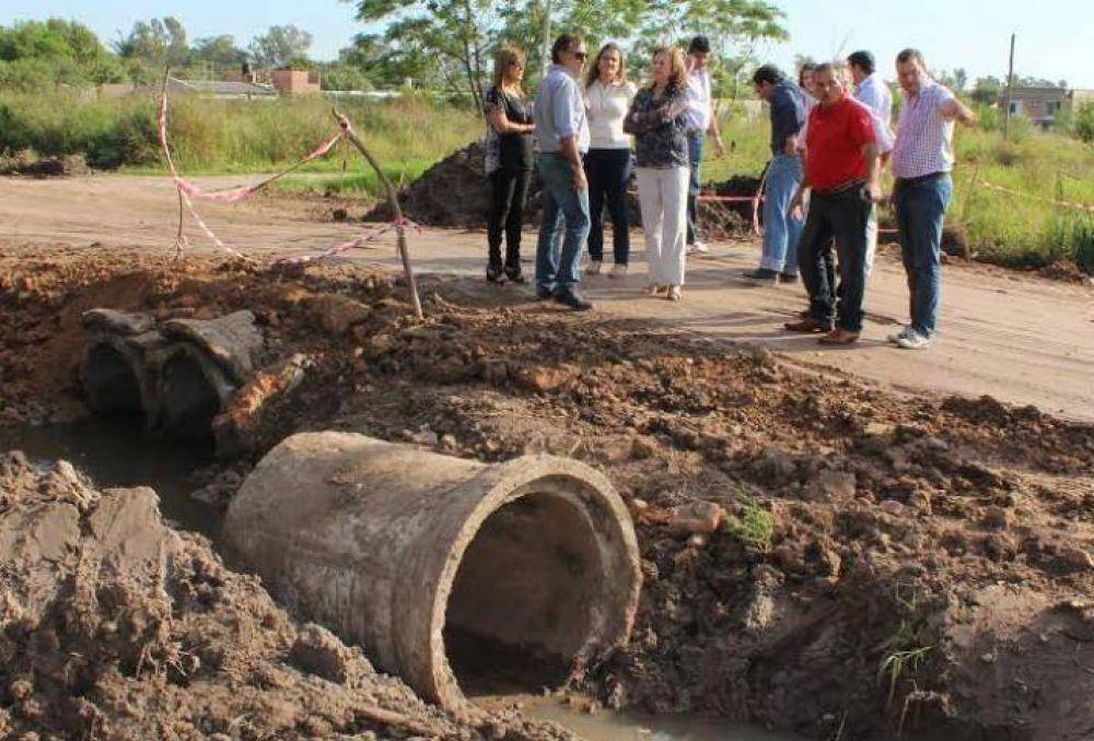 Municipio y Gobierno acordaron una agenda de trabajo a fines de ejecutar obras para reducir los efectos de la lluvia
