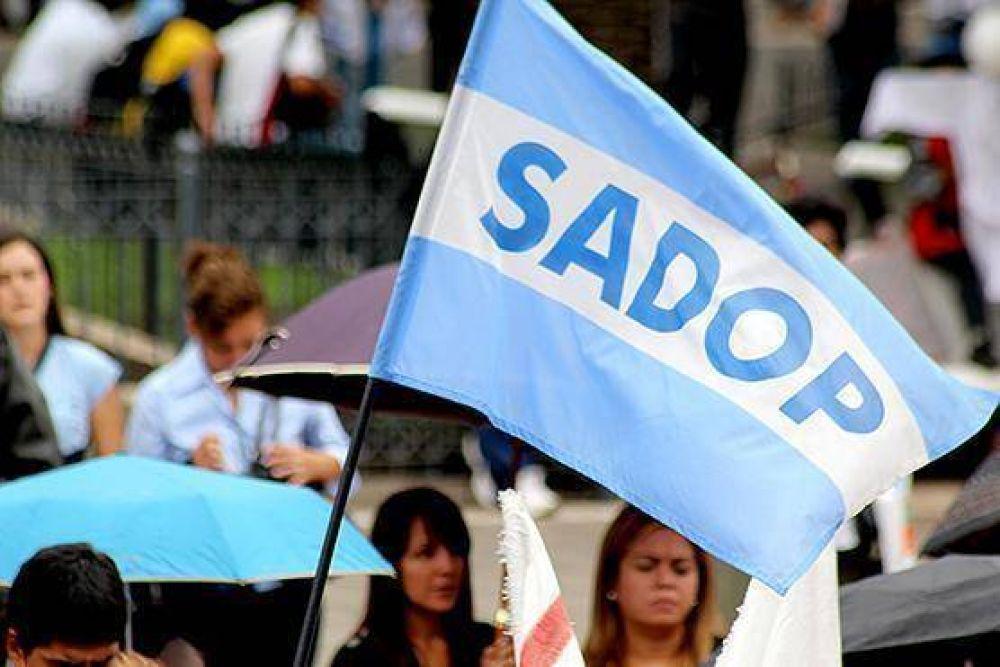 SADOP anunció un paro docente por 72 horas desde el viernes 4 de abril
