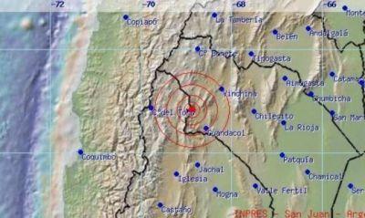 Un sismo de 5,7 grados se registró en La Rioja
