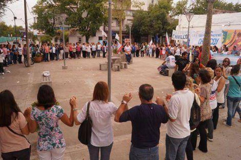 Marcha y asamblea del Frente Gremial en Chivilcoy