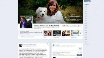 Cristina Kirchner defendi� por Facebook el aumento de hasta 400% en facturas de agua y gas