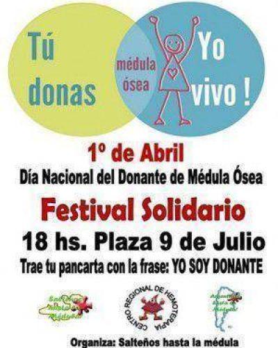 """Festival Solidario por el """"Día Nacional del Donante de Médula Ósea"""""""