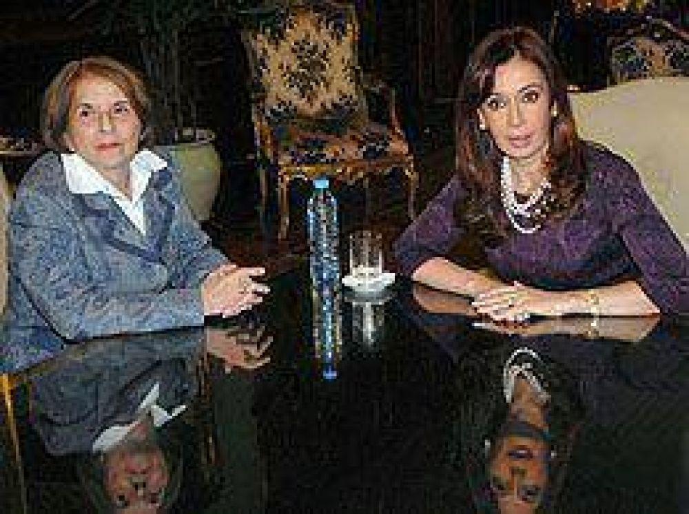 Hilda Molina se reunió con la Presidente