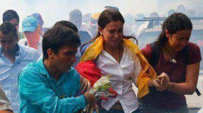 Venezuela: Policía Bolivariana reprimió la manifestación de respaldo a María Corina Machado