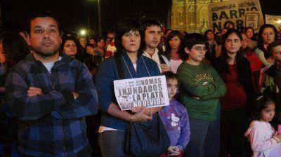 Recordaron a las víctimas a un año del temporal en La Plata