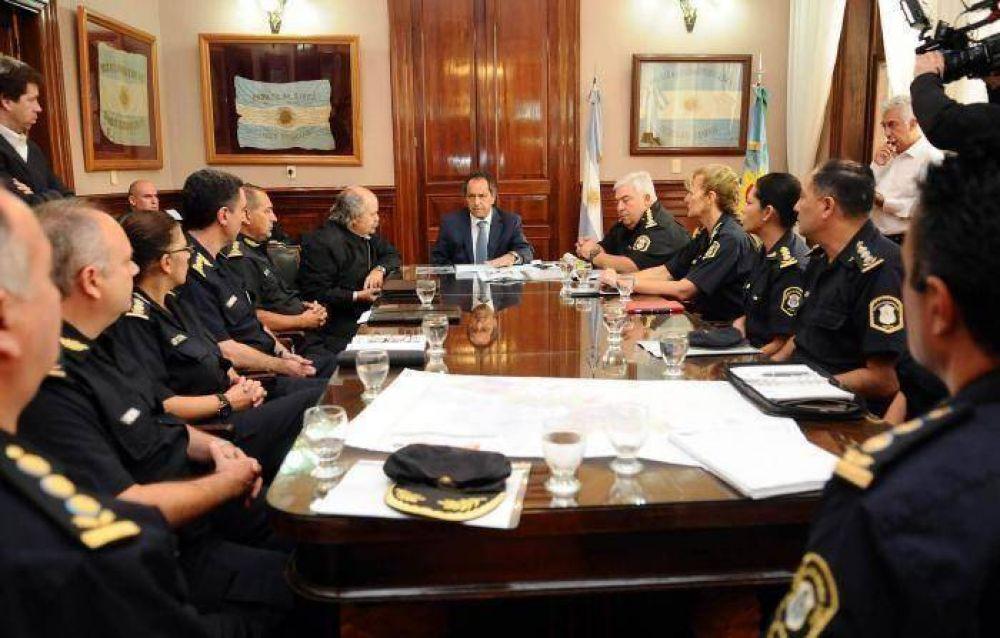 Scioli y Granados con lineamientos para la policía