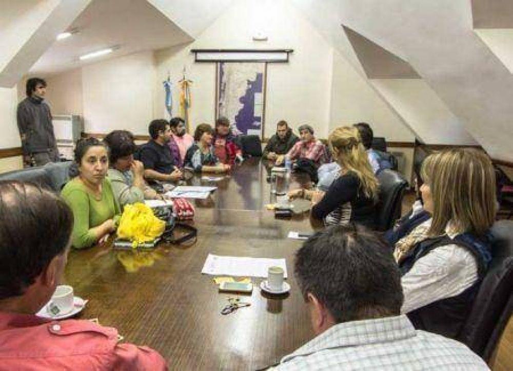 Referentes del SUTEF se reunieron con legisladores fueguinos