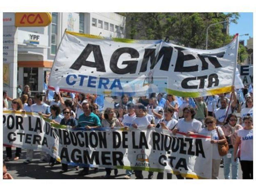 Agmer exige una nueva propuesta salarial antes de la próxima reunión de conciliación