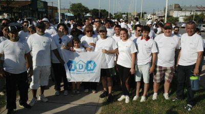 El diputado Adrián Bogado caminó en el día mundial de la actividad física