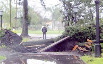 En Caseros el temporal provocó importantes daños