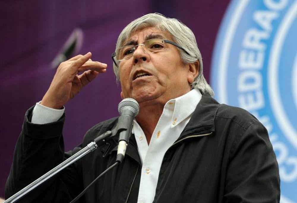 """Moyano: """"Caló es un mamarracho, que vaya a aplaudir a la Presidenta"""""""