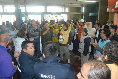 Estatales protestaron en Casa de Gobierno