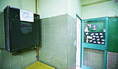 Dramas en escuelas por pérdidas de gas y retiros de medidores