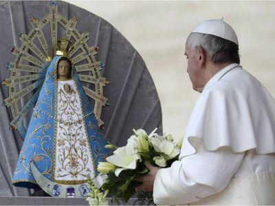 Llegó a Bariloche la imagen de la Virgen bendecida por Francisco I