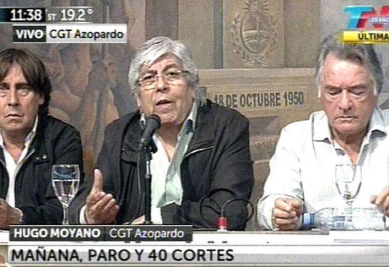 """Moyano dijo que Caló lo critica """"porque lo retó la Presidenta"""""""