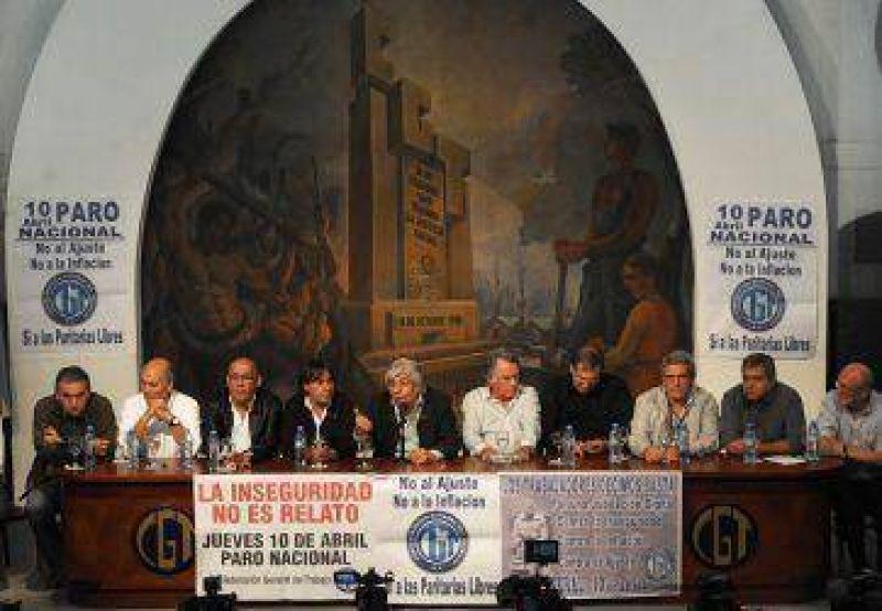 Los sindicatos llevan adelante el paro