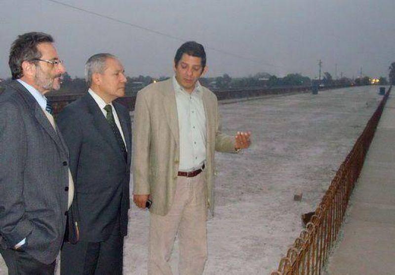 Inauguran el nuevo puente sobre el Rio San Lorenzo