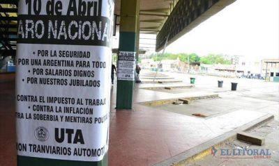 La adhesión al paro de la CGT fue total en el transporte y aplacó la actividad en la ciudad