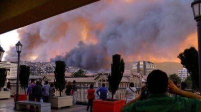 Los primeros peritajes descartan que el incendio en Valpara�so haya sido intencional